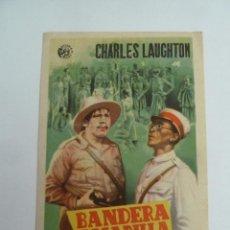 Cine: BANDERA AMARILLA CHARLES LAUGHTON FOLLETO DE MANO ORIGINAL ESTRENO PERFECTO ESTADO. Lote 147722198