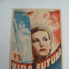Cine: LA VIDA FUTURA FOLLETO DE MANO ORIGINAL ESTRENO . Lote 147722326