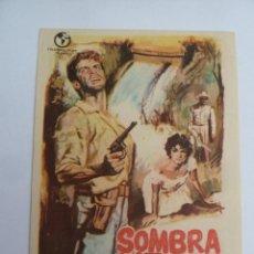 Cine: SOMBRA VERDE FOLLETO DE MANO ORIGINAL ESTRENO PERFECTO ESTADO. Lote 147722370