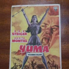 Cine: PROGRAMA DE CINE 1958 YUMA - ROD STEIGER - SARITA MONTIEL. Lote 147741758