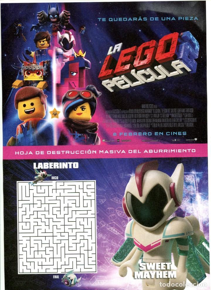 LA LEGO 2. DIBUJOS ANIMADOS 21 X 29,5 CMS.. (Cine - Folletos de Mano - Infantil)