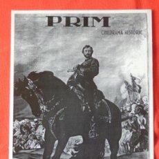 Cine: PRIM, PROGRAMA GRANDE FACSIMIL, IMPECABLE, DOCUMENTAL AÑOS 30, MEDIDAS 18X24,5, SIN PUBLICIDAD. Lote 147756314