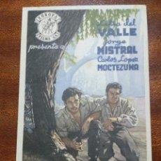 Cine: PROGRAMA DE CINE 1953 PEREGRINA - LILIA DEL VALLE - JORGE MISTRAL. Lote 147767850