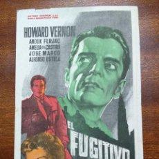 Cine: PROGRAMA DE CINE 1958 EL FUGITIVO DE AMBERES - HOWARD VERNON. Lote 147769014