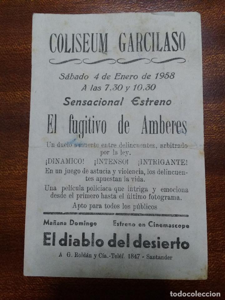 Cine: PROGRAMA DE CINE 1958 EL FUGITIVO DE AMBERES - HOWARD VERNON - Foto 2 - 147769014
