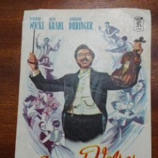 Cine: PROGRAMA DE CINE GUERRA DE VALSES - BERNHARD WICKI, HILDE KRAHL. Lote 147775306
