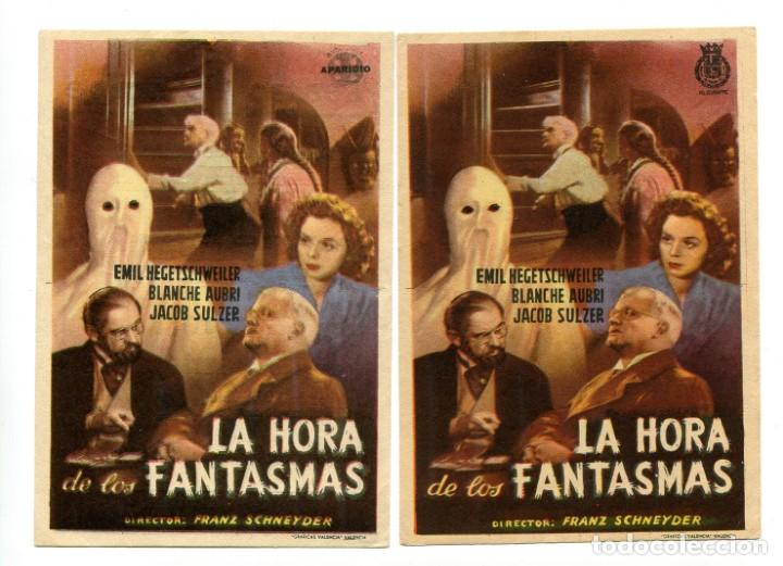 LA HORA DE LOS FANTASMAS, DE FRANZ SCHNEYDER. (Cinema - Flyers and Ads - Thriller)