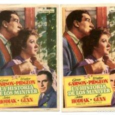Cine: LA HISTORIA DE LOS MINIVER, CON GREER GARSON.. Lote 147777850