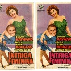 Cine: INTRIGA FEMENINA, CON KIRK DOUGLAS.. Lote 147778530