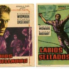 Cine: LABIOS SELLADOS, CON RICHARD WIDMARK.. Lote 147782130