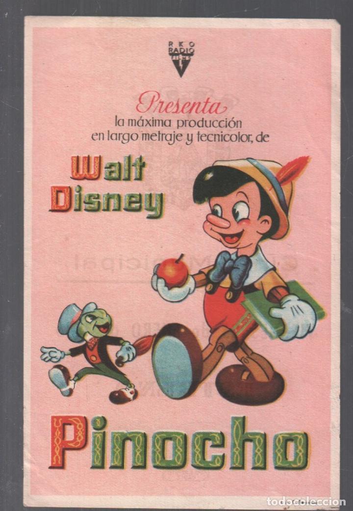 PINOCHO - PROGRAMA SENCILLO CON PUBLICIDAD RF-2086 , PERFECTO ESTADO (Cine - Folletos de Mano - Infantil)
