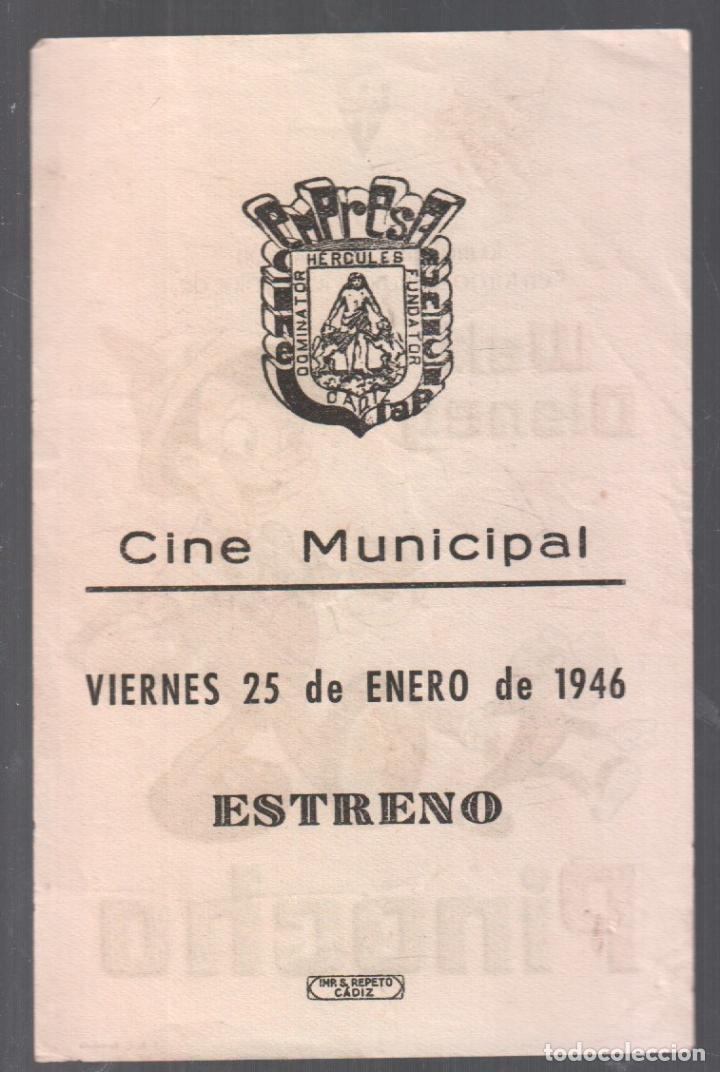 Cine: PINOCHO - PROGRAMA SENCILLO CON PUBLICIDAD RF-2086 , PERFECTO ESTADO - Foto 2 - 147804506