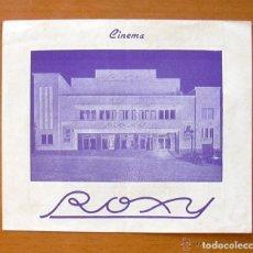 Cine: PROGRAMA LOCAL - CINE ROXY DE BARCELONA - REINA A LOS 14 AÑOS - HÉROE A LA FUERZA. Lote 147844326