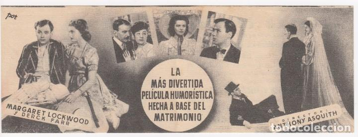 Cine: programa de mano original boda sosegada. doble (aliatar cinema 1943) - Foto 3 - 147846470