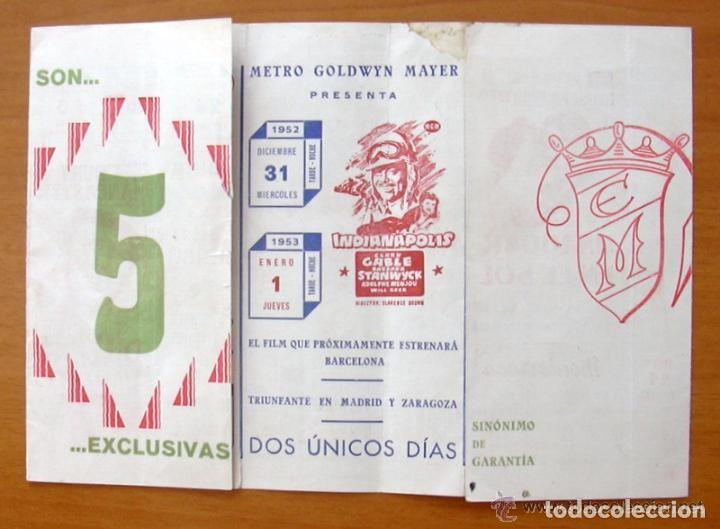 Cine: Programa local -Cine Monterrosa -Programacion Diciembre 1953, Diez valientes, Un lugar en el sol etc - Foto 2 - 147846870