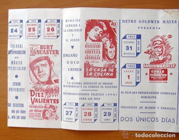 Cine: Programa local -Cine Monterrosa -Programacion Diciembre 1953, Diez valientes, Un lugar en el sol etc - Foto 3 - 147846870