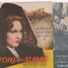Cine: PROGRAMA DE MANO ORIGINAL FORJA DE ALMAS. DOBLE (CINE BAHIA 1946). Lote 147847658