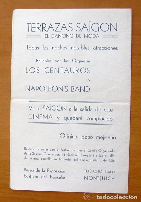 Cine: Programa local - Cinema Cataluña - Programacioin semanal, 29-6 hasta 5-7 del Año 35-36 - Foto 2 - 147847978