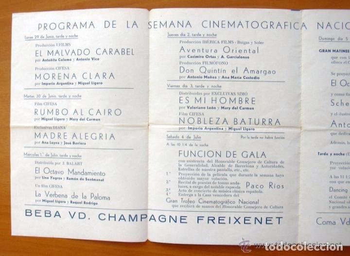 Cine: Programa local - Cinema Cataluña - Programacioin semanal, 29-6 hasta 5-7 del Año 35-36 - Foto 4 - 147847978