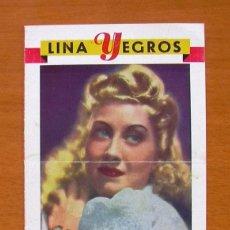 Cine: COMPAÑIA DE ALTA COMEDIA LINA YEGRÓS - VER FOTOS ADICIONALES. Lote 147871918