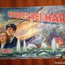 Cine: PROGRAMA DE CINE HEROES DEL MAR - RANDOLPH SCOTT - JAMES BROWN - ELLA RAINES. Lote 147873642