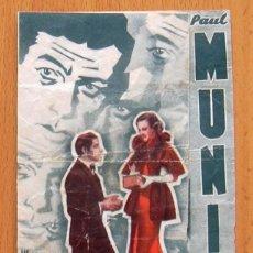 Cine: BARRERAS INFRANQUEABLES - PELICULA DE 1935 - PAUL MUNI Y BETTE DAVIS - PUBLICIDAD TEATRO ESPAÑOL. Lote 147883594