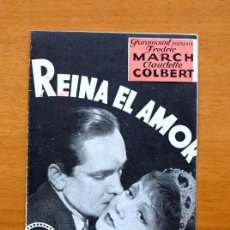 Cine: REINA EL AMOR - CLAUDETTE COLBERT, FREDIC MARCH. Lote 147887186