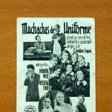 Cine: MUCHACHAS DE UNIFORME - DOROTEA WIECK, HERTA THIELE - CON PUBLICIDAD, TEATRO CASARES. Lote 147887962