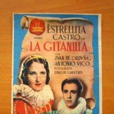 Cine: LA GITANILLA - ESTRELLITA CASTRO - CON PUBLICIDAD, IDEAL CINEMA DE ALBALAT DE LA RIBERA. Lote 147891818