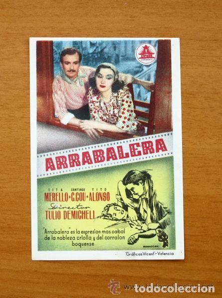ARRABALERA - TITA MERELLO, SANTIAGO G.COU, TITO ALONSO (Cine - Folletos de Mano - Comedia)