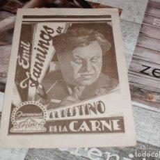 Cine: EL DESTINO DE LA CARNE EMIL JANNINGS BELLE BENNETT PROGRAMA ORIGINAL DOBLE PARAMOUNT CINE MUDO. Lote 147902942