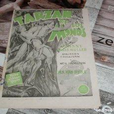 Cine: TARZAN DE LOS MONOS PROGRAMA DOBLE MGM JOHNNY WEISSMULLER MAUREEN O'SULLIVAN. Lote 147905690