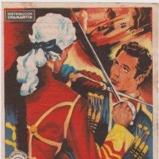 Cine: PROGRAMA DE CINE - LA VENGANZA DE AGUILA NEGRA - ROSSANO BRAZZI - TEATRO PRINCIPAL - 1955. Lote 147935410