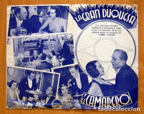 Cine: La gran duquesa y el camarero - Pelicula de 1934 - Bing Crosby - Publicidad Cine Gades de Cádiz - Foto 2 - 147936382