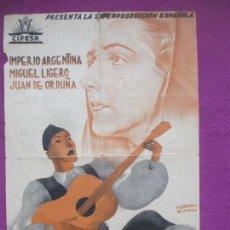 Cine: PROGRAMA DE MANO, NOBLEZA BATURRA, IMPERIO ARGENTINA, MIGUEL LIGERO, GRANDE, FOLLETO MANO,. Lote 147948310