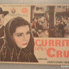 Cine: FOLLETO CINE CURRITO DE LA CRUZ. CINE NORBA CACERES. 8 MARZO 1936. Lote 147958230