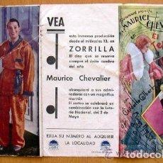 Cine: EL TENIENTE SEDUCTOR - 1931 - MAURICE CHEVALIER Y CLAUDETTE COLBERT - PUBLICIDAD CINE ZORRILLA. Lote 147970298