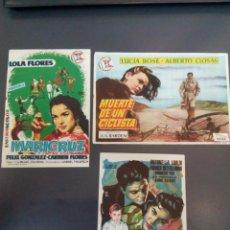 Cine: LOTE DE 3 PROGRAMAS DE CINE DE CINE RIALTO, DON BENITO, BADAJOZ. VER FOTOS REVERSO.1957, 58 Y 59.. Lote 148040822
