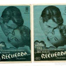 Cine: RECUERDA, CON INGRID BERGMAN.. Lote 148042730