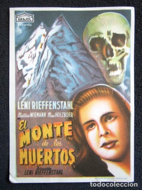 PROGRAMA CINE EL MONTE DE LOS MUERTOS (Cine - Folletos de Mano - Terror)