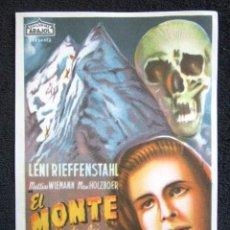 Cine: PROGRAMA CINE EL MONTE DE LOS MUERTOS. Lote 148054562