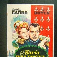 Cine: MARIA WALEWSKA-CONQUEST-CLARENCE BROWN-GRETA GARBO-CHARLES BOYER-CINE ESPLAI-MODELO RARO-1966. . Lote 148056774
