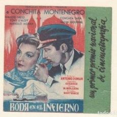 Cine: BODA EN EL INFIERNO. PROGRAMA DOBLE CON PUBLICIDAD.. Lote 148076730