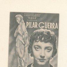 Cine: PILAR GUERRA. PROGRAMA DOBLE SIN PUBLICIDAD.. Lote 148079042
