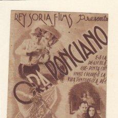 Cine: ORA PONCIANOO. PROGRAMA DOBLE CON PUBLICIDAD.. Lote 148081818