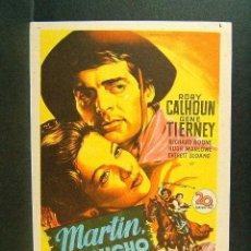 Cine: MARTIN, EL GAUCHO-JACQUES TOURNEUR-GENE TIERNEY-SOLIGO-CINEMA VICTORIA-SAN FELIU DE GUIXOLS-1955. . Lote 148081854