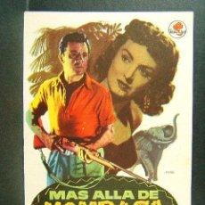 Cine: MAS ALLA DE MOMBASA-GEORGE MARSHALL-CORNEL WILDE-DONNA REED-LEO GENN-ILUSTRA MAC-(1956). . Lote 148084790