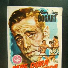 Cine: MAS DURA SERA LA CAIDA-MARK ROBSON-HUMPHREY BOGART-ROD STEIGER-JANO-CINE URGEL-MOLLERUSA-(1956). . Lote 148085474