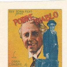 Cine: POBRE DIABLO. PROGRAMA DOBLE CON PUBLICIDAD.. Lote 148085858