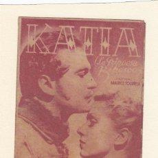 Cine: KATIA. PROGRAMA DOBLE CON PUBLICIDAD ( DEFECTUOSO ).. Lote 148087898